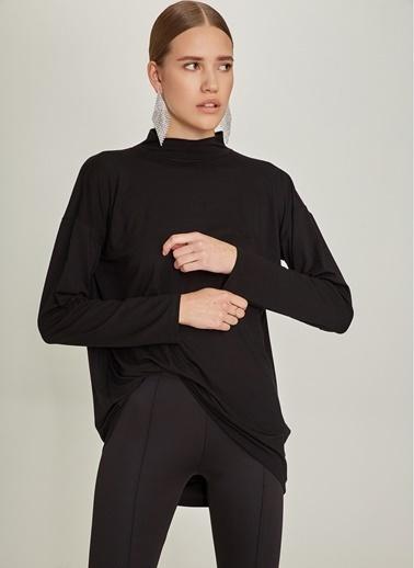 NGSTYLE Sırt Dekolteli Bluz Siyah